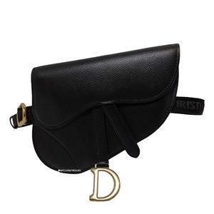 Dior Black Saddle Waist Belt Bag